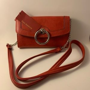 Enzo Angiolini Wallet On A Chain Salsa Color NWT